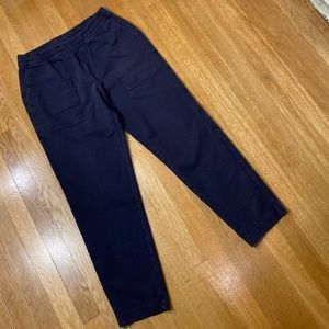 UNIQLO Gray Blue Washed Ankle Length Pants